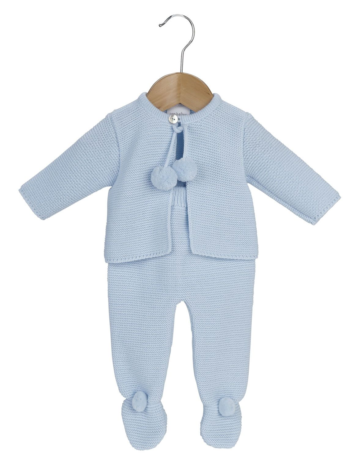 d3b6ecf4abf1 A2563 Pom Pom knitted Jacket   Trousers P